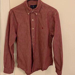 Ralph Lauren Oxford Shirt.  Rust denim color.